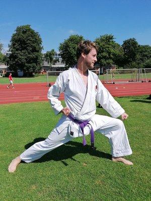 PreSales Tobias beim Karate