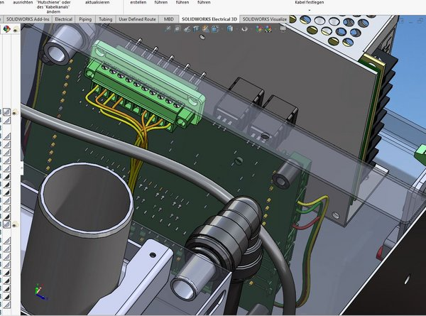 SOLIDWORKS Electrical: 3D Verkabelung