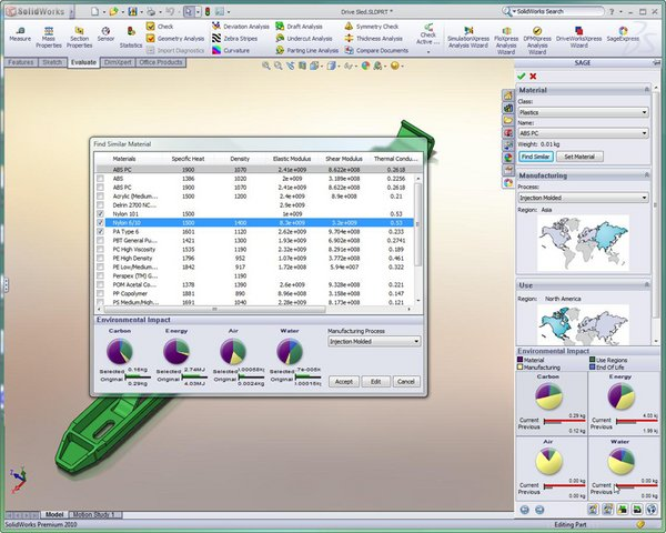 SOLIDWORKS Simulation Sustainability