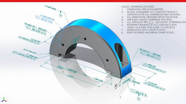 SOLIDWORKS Model Based Definition MBD