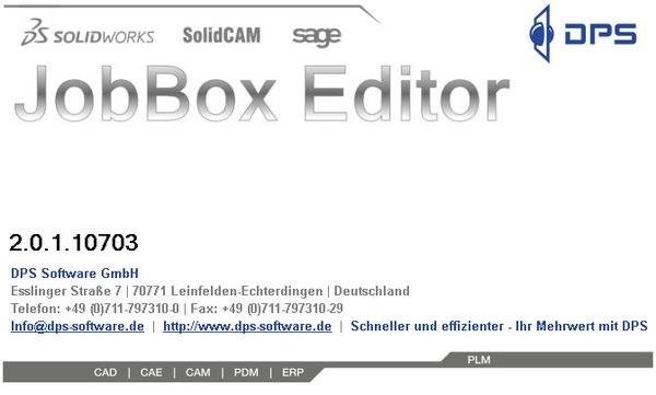 DPS Tools JobBox Suite Startbox