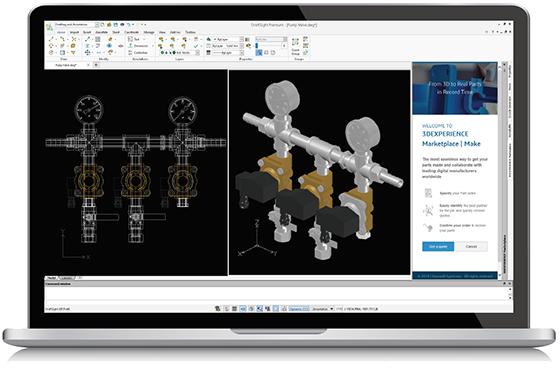DraftSight: 3DEXPERIENCE