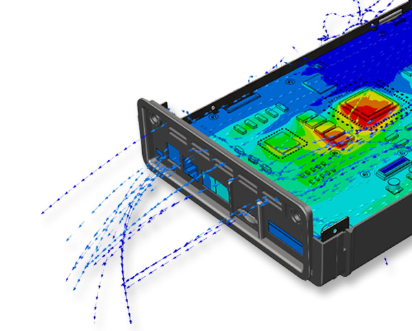 SOLIDWORKS Flow Simulation - Modul Elektronikkühlung